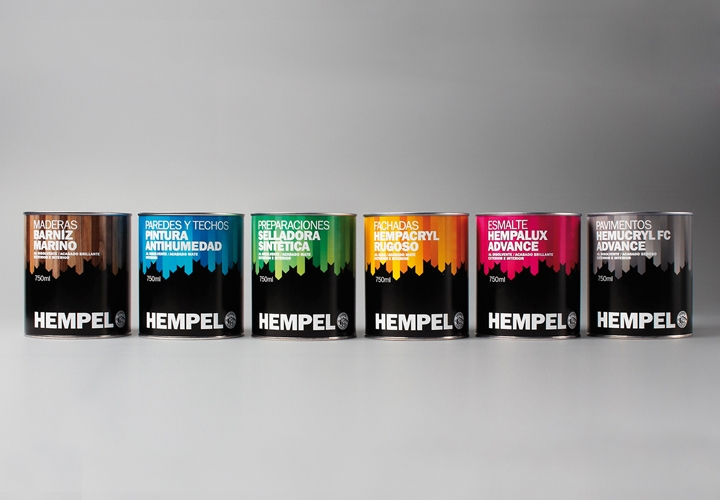 AD'Bcn / Packaging design for paint manufacturer Hempel. 2012
