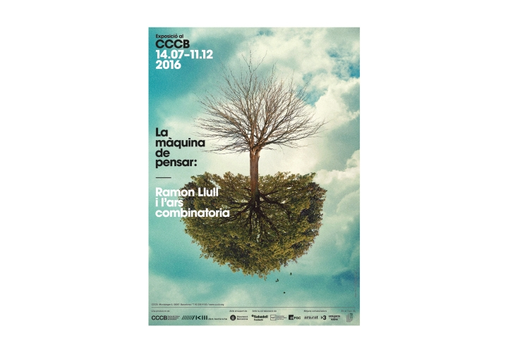 CCCB / Ramon Llull. Exhibition poster & communication campaign / Illustration: Javier Jaén. 2016