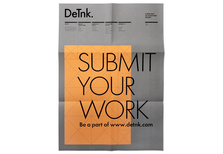 DeTnk / Call for entries poster for design and art collectors company. 2008