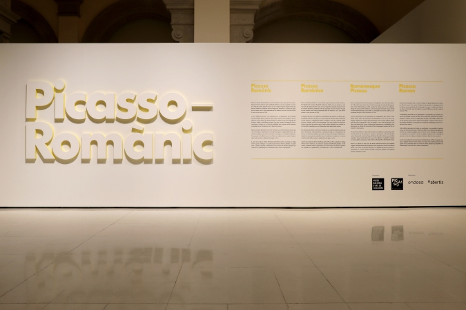 MNAC / Picasso Romànic / Exhibition graphics / Architects: Garcés Deseta Bonet / Photo: Pablo Rausell. 2016–17