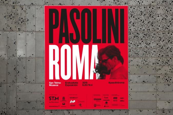 San Telmo Museoa / Pasolini Roma exhibition poster. 2015