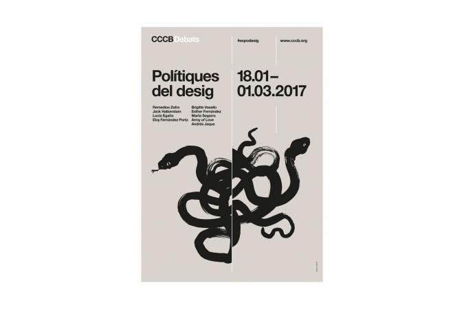 CCCB Debats / Polítiques del Desig poster / Illustration: Pol Montserrat. 2017