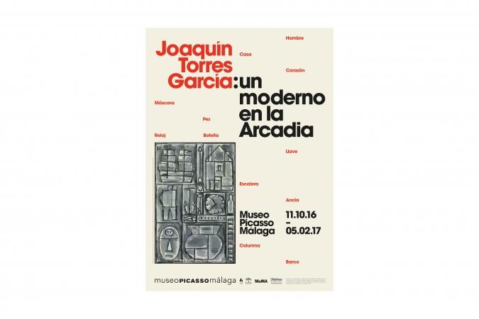 Museo Picasso Málaga / J. Torres García exhibiton poster / 2016