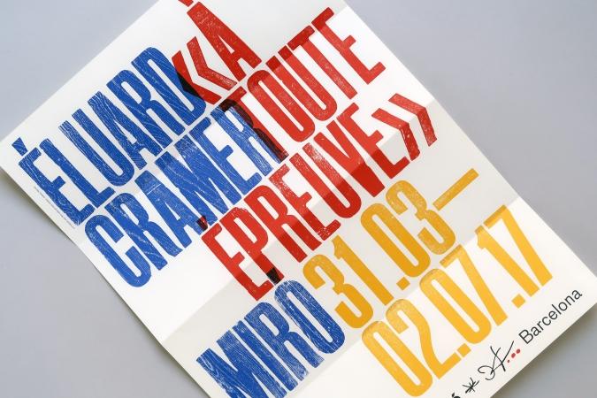Fundació Joan Miró / À Toute Épreuve Exhibition. Communication graphics. 2017