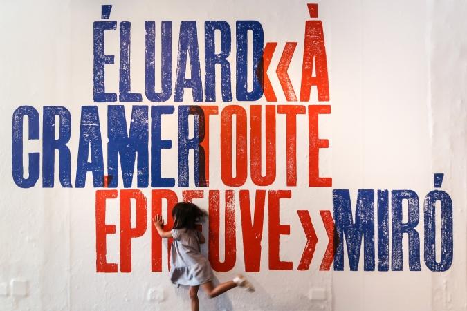 Fundació Joan Miró / À Toute Épreuve Exhibition graphics. 2017
