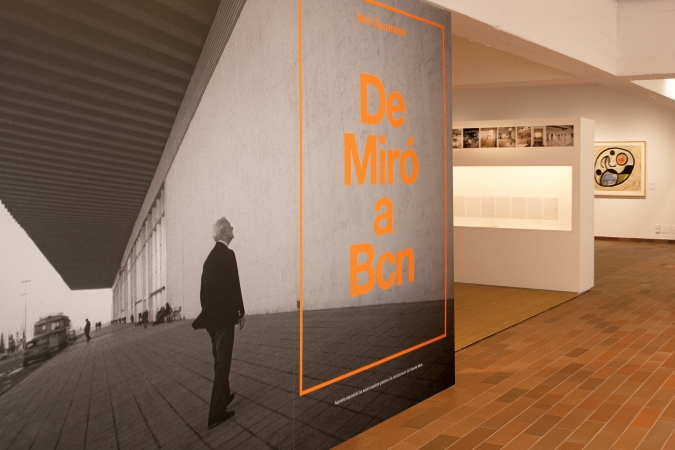 Fundació Joan Miró / De Miró a Barcelona. Exhibition Graphics / Exhibition Design: Lluís Pau. 2014