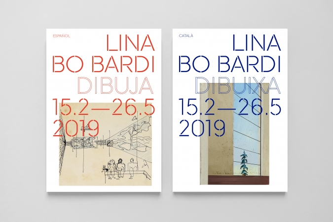Fundació Joan Miró / Lina Bo Bardi Dibuixa Exhibition. Communication graphics. 2019