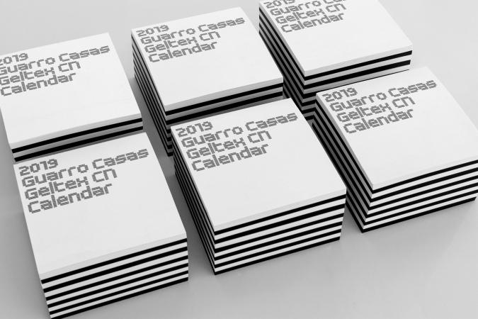 Guarro Casas / 2019 Calendar and sample kit for paper manufacturer GC. 2019