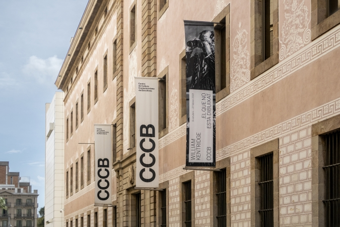 CCCB / William Kentridge Exhibition - Exterior Graphics. 2020
