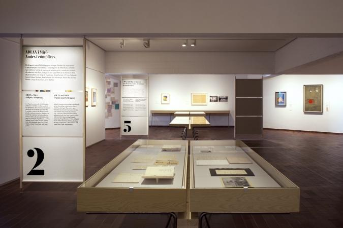Fundació Joan Miró / Miró-ADLAN - Exhibition Graphics / Museography: Albert Imperial / 2021